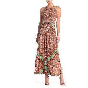 Handkerchief Print Maxi Dress